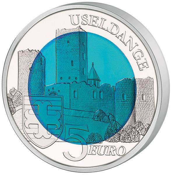 5 Euro Luxemburg Burg Useldingen 2017