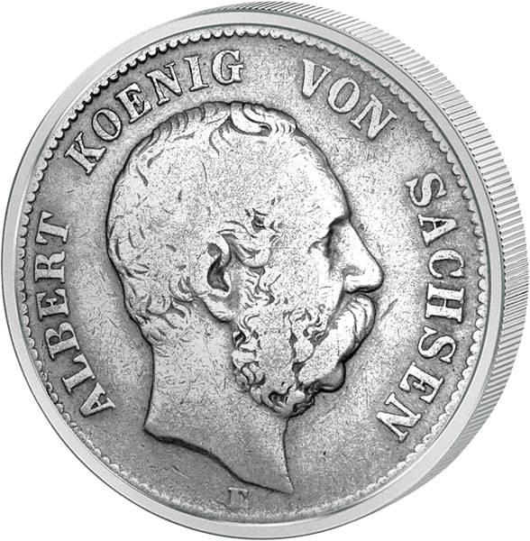 2 Mark Sachsen Albert I. 1876-1888 s-ss