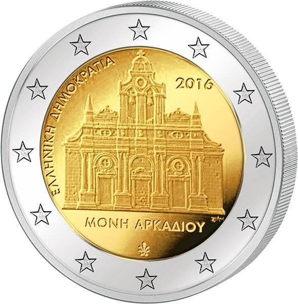 2 Euro Griechenland 150. Jahrestag des Falls von Kloster Arkadi