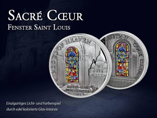 10 Dollars Cook-Inseln Sacré Coeur Fenster Saint Louis 2014 Prooflike