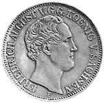 Ausbeutetaler Silber Friedrich August II. 1850-54 ss-vz