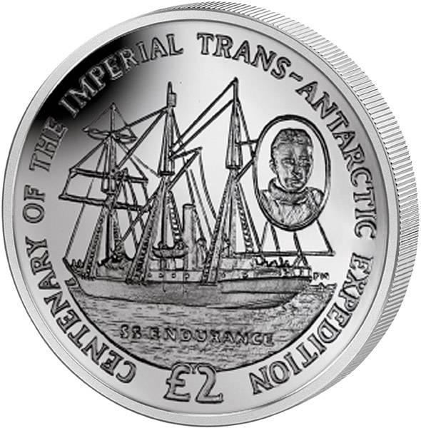 2 Pounds Antarctic Territory 100 Jahre Transantarktis-Expedition