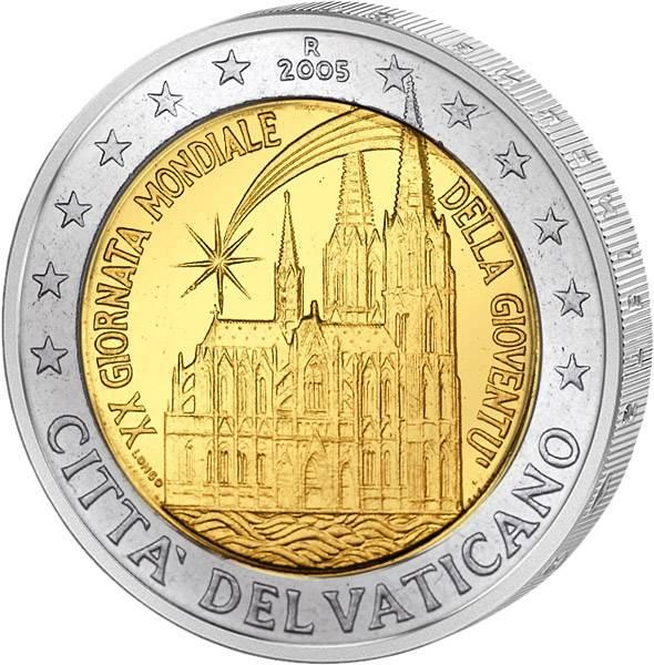 2 Euro Vatikan Weltjugendtag Köln 2005 Stempelglanz