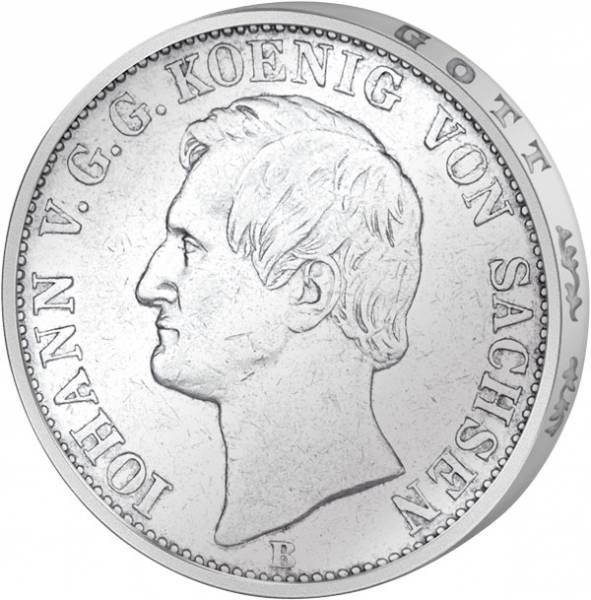 Taler Sachsen König Johann 1861-67 Silber (ss)
