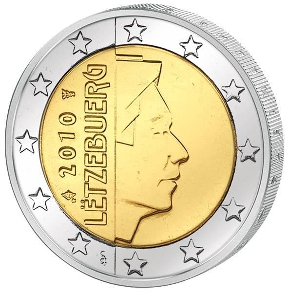 2 Euro  Kursmünze Luxemburg Großherzog Henri 2010  prägefrisch