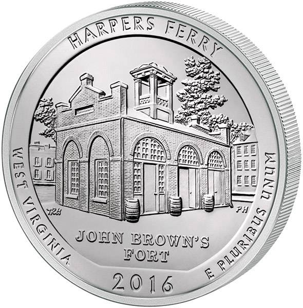 25 Cents USA West Virginia Harpers Ferry
