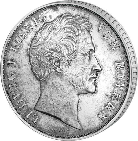 Taler Doppelgulden Ludwig I. 1845-1847  ss-vz