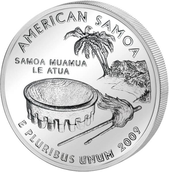 Quarter Dollar USA American Samoa 2009