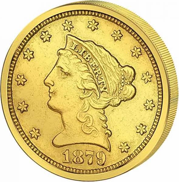 2 1/2 Dollars USA Liberty-Kopf