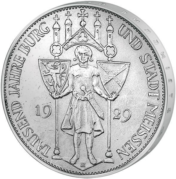 3 Mark Weimarer Republik 1.000 Jahre Meißen 1929 ss-vz