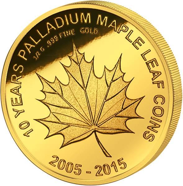 100 Francs Mali Maple Leaf 2015   Polierte Platte