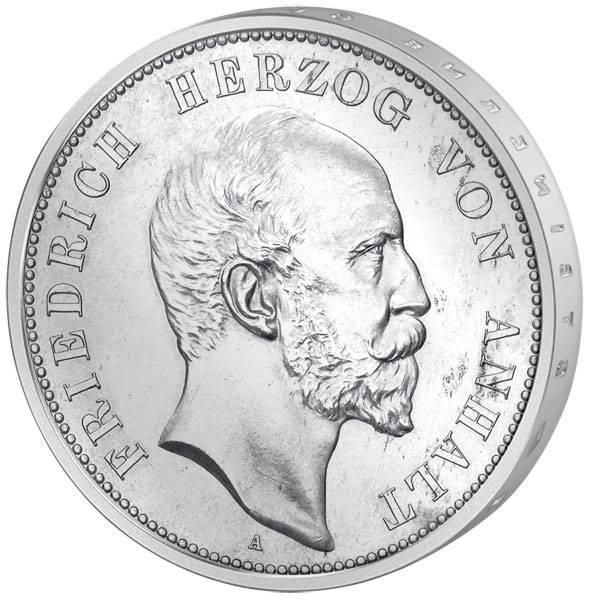 5 Mark Anhalt Herzog Friedrich I. 1896 ss-vz