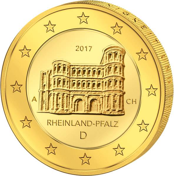 2 Euro BRD Dresdner Zwinger vollvergoldet