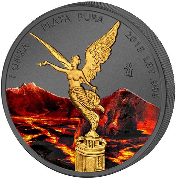 10 Unze Silber Mexiko Libertad Lava Edition 2015