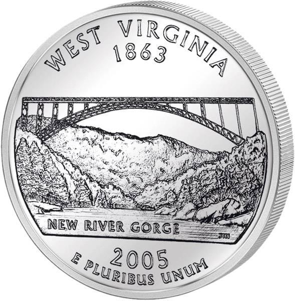 Quarter Dollar USA West Virginia 2005