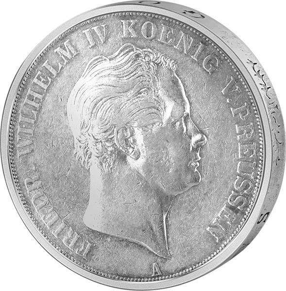 Doppeltaler Preußen König Friedrich Wilhelm IV. 1841-1851 sehr schön bis vorzüglich