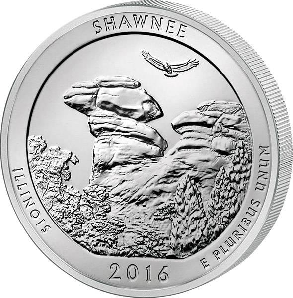 Quarter Dollar USA Illinois Shawnee National Forest 2016 prägefrisch