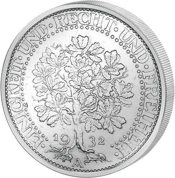 5 Mark Weimarer Republik Eichbaum 1927-1932 ss-vz