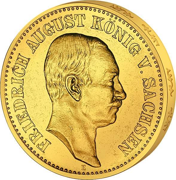 10 Mark Sachsen Friedrich August 1905-1912 Sehr schön