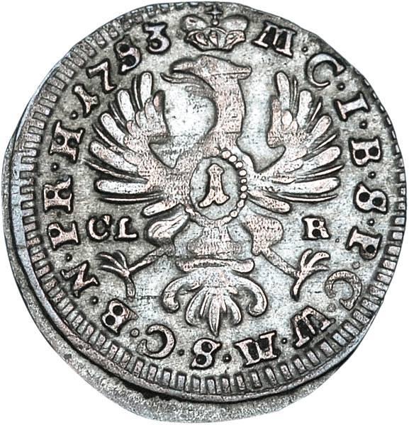1 Kreuzer Brandenburg-Bayreuth Friedrich II. 1741 - 1753