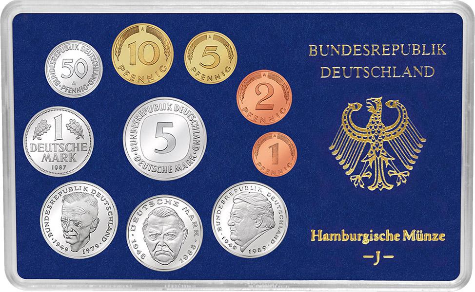 Brd Kursmünzen Serie Dm Kursmünzen Sätze Deutsche Mark