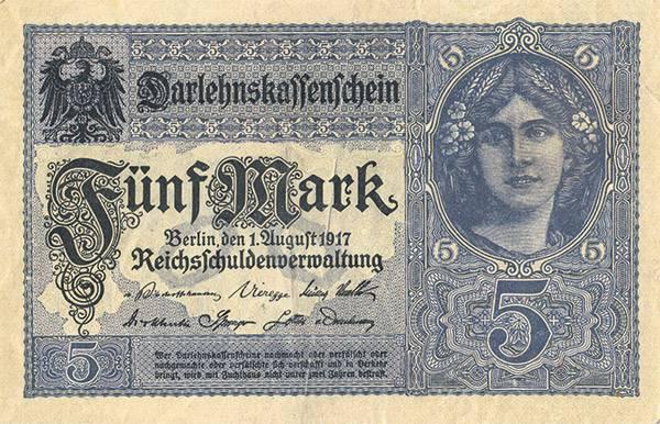 5 Mark Banknoten der Darlehenskasse