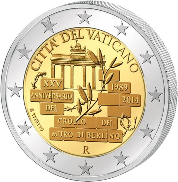 2 Euro Vatikan 25 Jahre Mauerfall