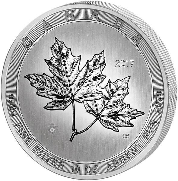 10 Unzen Silber Kanada Maple Leaf 2017