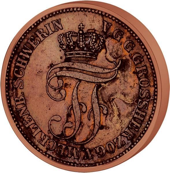 5 Pfennige Mecklenburg-Schwerin Großherzog Friedrich Franz II. 1872 ss-vz