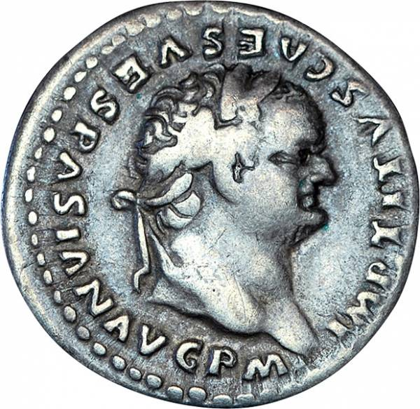 Denar Rom Kaiser Titus 79-81 n.Chr. sehr schön
