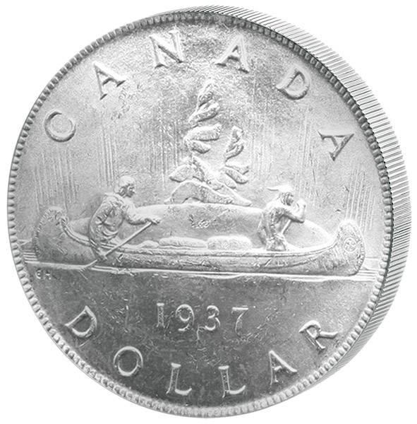 1 Dollar Kanada Georg VI. Kanu