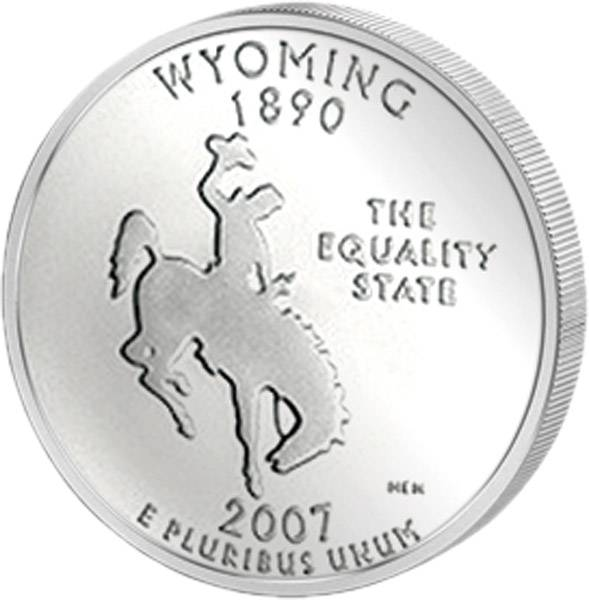 Quarter Dollar USA Wyoming 2007