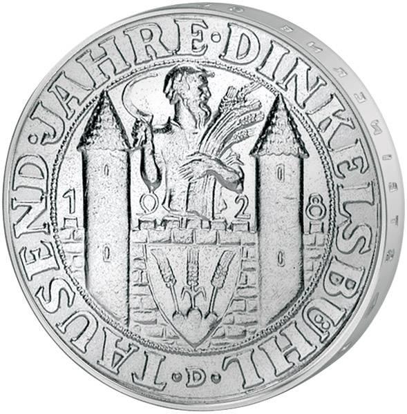 3 Mark Weimarer Republik 1.000 Jahre Dinkelsbühl 1928  vorzüglich