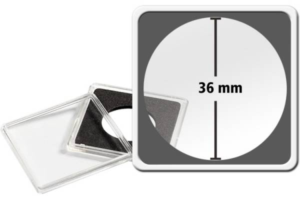 10er-Pack QUADRUM-Münzkapsel Durchmesser 36 mm