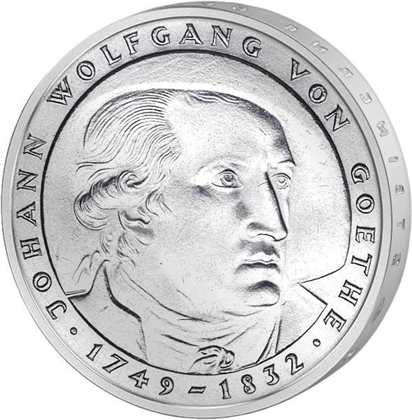 5 DM BRD Johann Wolfgang  von Goethe