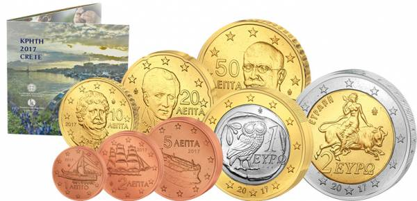 Euro-Kursmünzensatz Griechenland 2017