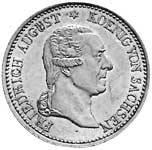 Taler Ausbeutekonventionstaler Friedrich August 1827 Vorzüglich