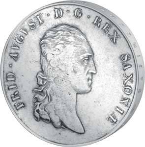 Konventionstaler Sachsen König Friedrich August l. 1807-1813   sehr schön