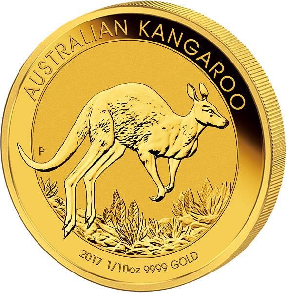 1/10 Unze Australien Känguru 2017