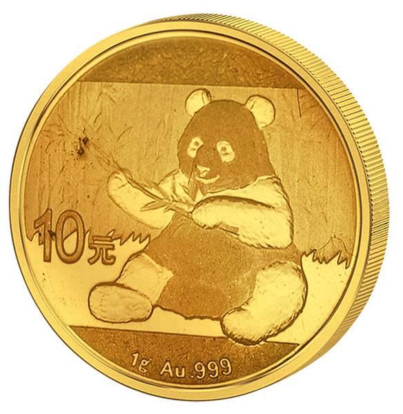 10 Yuan Gold China Panda 2017