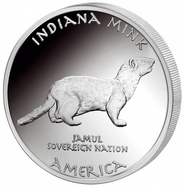 1 Unze Silber USA Indiana Miami Nerz 2017