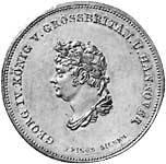 Taler Ausbeutetaler Georg IV. 1830 Vorzüglich