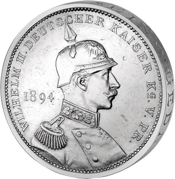 Silbermedaille Aussöhnung 1894 Brandenburg-Preußen vz-pfr