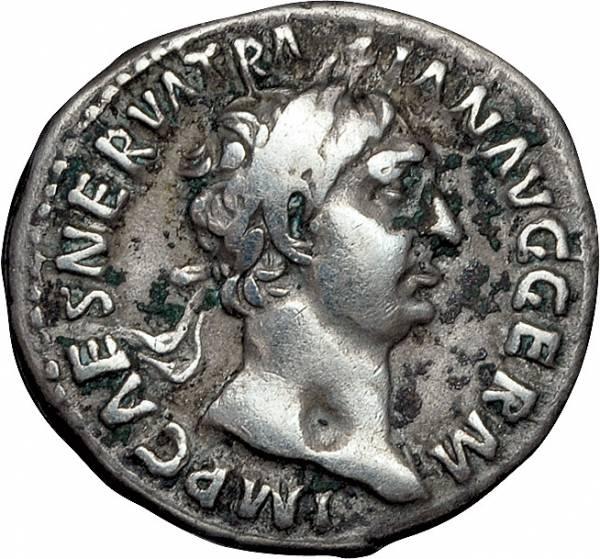 Denar Kaiser Traianus 98-117 n.Chr. Sehr schön