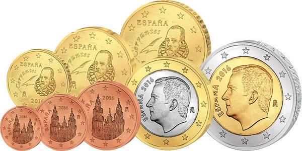 Euro-Kursmünzensatz Spanien 2016