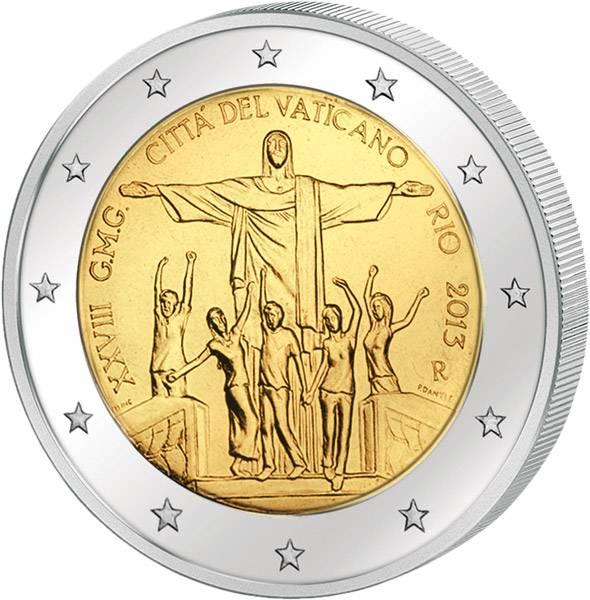 2 Euro Vatikan Weltjugendtag Rio de Janeiro 2013   prägefrisch