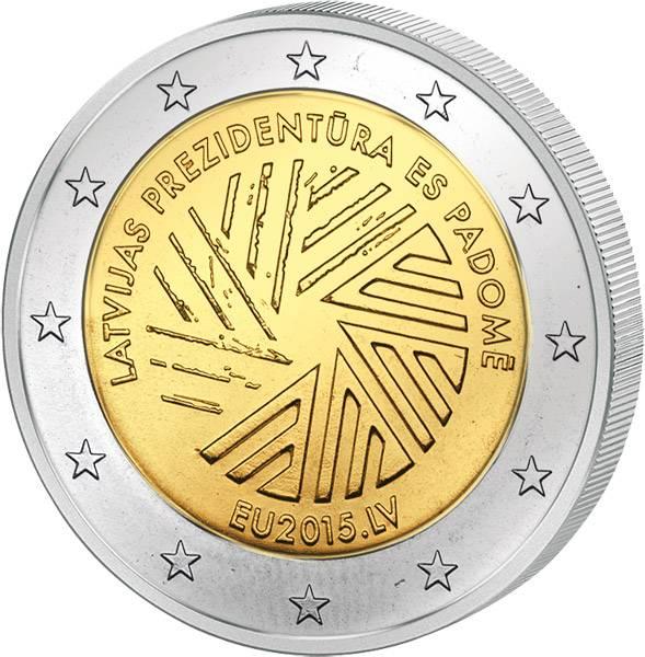 2 Euro Lettland EU-Ratspräsidentschaft 2015 prägefrisch