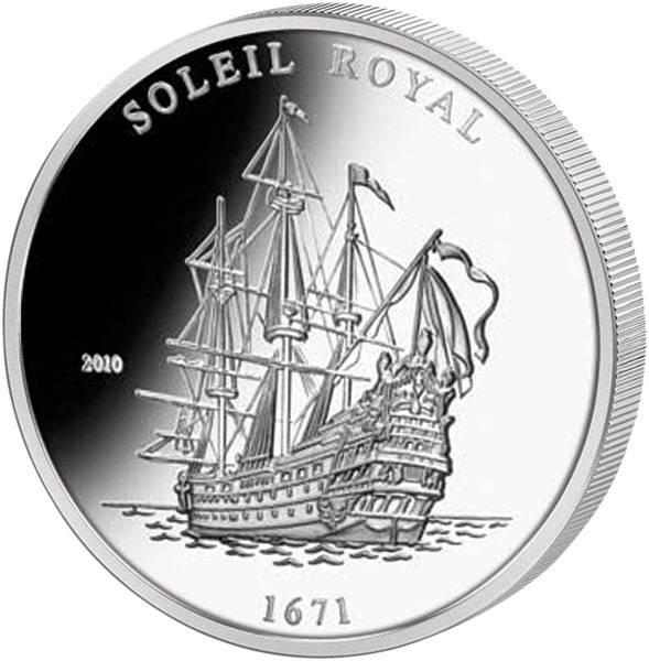 1.000 Francs Elfenbeinküste Soleil Royal 2010