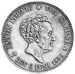 Taler Konventionstaler Anton 1836 Vorzüglich