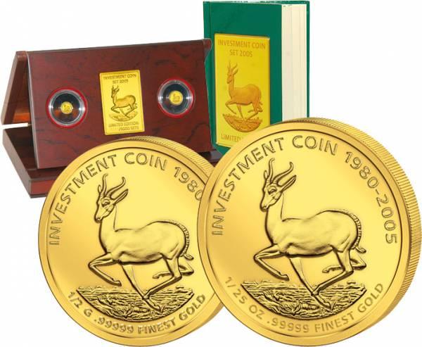 15 + 25 Dollars Investment Coin Set 2005 Polierte Platte